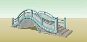 石拱桥su模型下载 石拱桥su模型下载