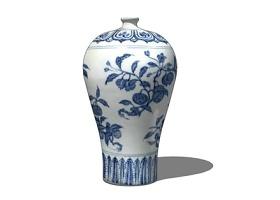 新中式装饰花瓶su模型下载 新中式装饰花瓶su模型下载