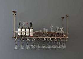 歐式紅酒架紅酒酒杯組合3D模型下載 歐式紅酒架紅酒酒杯組合3D模型下載