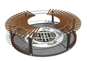 新中式廊架SU模型下载 新中式廊架SU模型下载