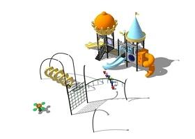 精品免費兒童娛樂設施滑滑梯SU模型下載 精品免費兒童娛樂設施滑滑梯SU模型下載
