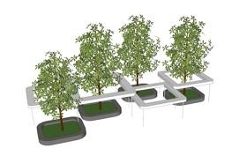 现代树池小品SU模型下载 现代树池小品SU模型下载