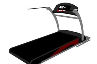 室内健身器材跑步机SU模型下载 室内健身器材跑步机SU模型下载