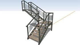 木藝樓梯 草圖大師模型SU模型下載 木藝樓梯 草圖大師模型SU模型下載
