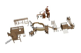 精品免費兒童游樂設施組合SU模型下載 精品免費兒童游樂設施組合SU模型下載