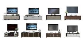 新中式電視柜邊柜組合3d模型下載 新中式電視柜邊柜組合3d模型下載