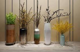中式陶瓷花瓶插花组合3D模型下载 中式陶瓷花瓶插花组合3D模型下载