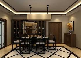 新中式家居餐厅 新中式羊皮吊灯 新中式黑色木艺餐桌椅组合 新中式棕色木艺餐边柜3D模型下载 新中式家居餐厅 新中式羊皮吊灯 新中式黑色木艺餐桌椅组合 新中式棕色木艺餐边柜3D模型下载