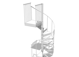 旋转楼梯SU模型下载 旋转楼梯SU模型下载