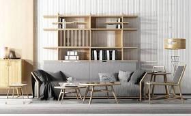 新中式沙发茶几单椅组合3d模型下载 新中式沙发茶几单椅组合3d模型下载