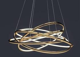 現代金屬圓環造型吊燈3D模型下載 現代金屬圓環造型吊燈3D模型下載
