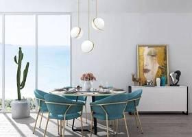 现代餐桌椅组合 现代餐桌椅 圆桌 边柜 吊灯 仙人掌 餐具3D模型下载 现代餐桌椅组合 现代餐桌椅 圆桌 边柜 吊灯 仙人掌 餐具3D模型下载