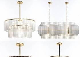 水晶吊燈組合 現代水晶燈 吊燈組合3D模型下載 水晶吊燈組合 現代水晶燈 吊燈組合3D模型下載
