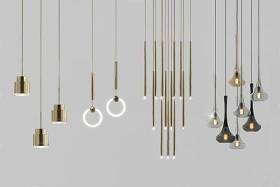 現代簡約奢華吊燈 燈具 金屬吊燈 吊燈組合3D模型下載 現代簡約奢華吊燈 燈具 金屬吊燈 吊燈組合3D模型下載