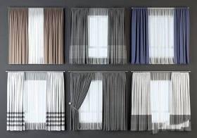现代窗帘组合 现代窗帘 布艺窗帘 窗纱 窗帘组合3D模型下载 现代窗帘组合 现代窗帘 布艺窗帘 窗纱 窗帘组合3D模型下载