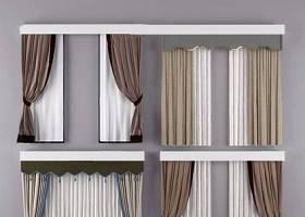 新中式窗帘组合 新中式窗帘 布艺窗帘3D模型下载 新中式窗帘组合 新中式窗帘 布艺窗帘3D模型下载