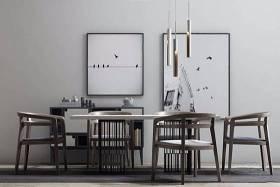 新中式桌椅柜子组合 新中式餐桌椅 长桌子 椅子 装饰柜 吊灯 装饰画 装饰品3D模型下载 新中式桌椅柜子组合 新中式餐桌椅 长桌子 椅子 装饰柜 吊灯 装饰画 装饰品3D模型下载