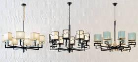 新中式簡約時尚吊燈組合 新中式吊燈 多頭吊燈 鐵藝吊燈 吊燈組合3D模型下載 新中式簡約時尚吊燈組合 新中式吊燈 多頭吊燈 鐵藝吊燈 吊燈組合3D模型下載