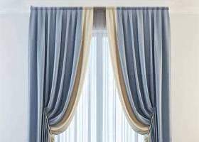现代布艺窗帘3D模型下载 现代布艺窗帘3D模型下载