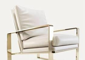 现代金属框架皮革单人沙发椅3D模型下载 现代金属框架皮革单人沙发椅3D模型下载