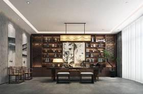 新中式总经理办公室书房3D模型下载 新中式总经理办公室书房3D模型下载