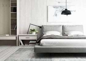 現代布藝雙人床床頭柜組合3D模型下載 現代布藝雙人床床頭柜組合3D模型下載
