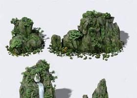 假山 3D模型 下載 假山 3D模型 下載