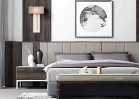 新中式雙人床床頭柜組合3D模型下載 新中式雙人床床頭柜組合3D模型下載