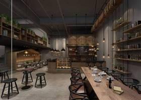 工业风咖啡厅3D模型下载 工业风咖啡厅3D模型下载