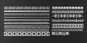 中式雕花線條3D模型下載 中式雕花線條3D模型下載