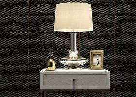 现代金属床头柜台灯花瓶相框组合3D模型下载 现代金属床头柜台灯花瓶相框组合3D模型下载