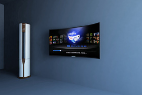 空調 曲屏電視3D模型下載 空調 曲屏電視3D模型下載