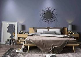 北歐實木雙人床床頭柜臺燈裝飾畫墻飾擺件3D模型下載 北歐實木雙人床床頭柜臺燈裝飾畫墻飾擺件3D模型下載