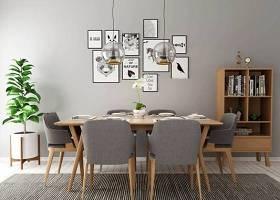 現代餐桌椅書架盆栽組合3D模型下載 現代餐桌椅書架盆栽組合3D模型下載