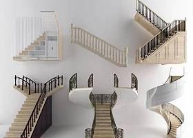 欧式实木旋转楼梯组合3D模型下载 欧式实木旋转楼梯组合3D模型下载
