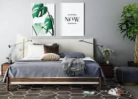 現代雙人床床頭柜擺件組合3d模型下載 現代雙人床床頭柜擺件組合3d模型下載