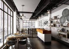 现代工业风格餐厅3D模型下载 现代工业风格餐厅3D模型下载