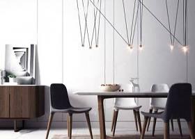 現代北歐餐桌椅組合 北歐餐桌椅 長餐桌 餐椅 吊燈 邊柜3D模型下載 現代北歐餐桌椅組合 北歐餐桌椅 長餐桌 餐椅 吊燈 邊柜3D模型下載