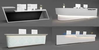 现代接待台前台组合3D模型下载 现代接待台前台组合3D模型下载