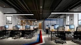 工业风敞开式办公室3D模型下载 工业风敞开式办公室3D模型下载