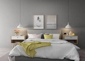 北歐雙人床床具組合3D模型下載 北歐雙人床床具組合3D模型下載
