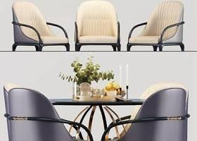 后現代餐桌椅擺件組合3D模型下載 后現代餐桌椅擺件組合3D模型下載