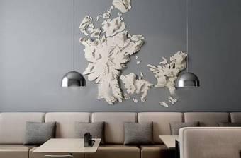 现代卡座沙发纸质墙饰吊灯餐桌组合3D模型下载下载 现代卡座沙发纸质墙饰吊灯餐桌组合3D模型下载下载