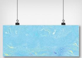 蓝色大理石纹理海报背景