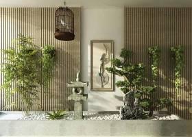 新中式仿古石燈鳥籠綠植3D模型下載 新中式仿古石燈鳥籠綠植3D模型下載