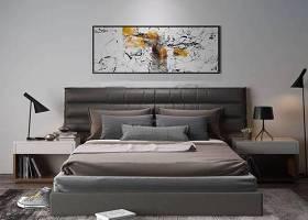 現代皮革雙人床床頭柜臺燈3D模型下載 現代皮革雙人床床頭柜臺燈3D模型下載