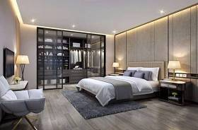 現代臥室 現代臥室 床具 雙人床 床頭柜 衣柜 落地燈3D模型下載 現代臥室 現代臥室 床具 雙人床 床頭柜 衣柜 落地燈3D模型下載