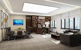 现代总经理办公室会议桌椅3D模型下载 现代总经理办公室会议桌椅3D模型下载