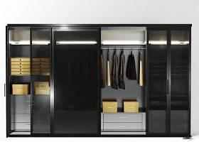 現代實木推拉門衣柜3D模型下載 現代實木推拉門衣柜3D模型下載