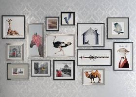 现代相框装饰画组合3D模型下载 现代相框装饰画组合3D模型下载